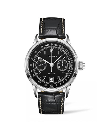 The Longines Column-Wheel Single Push-Piece Chronograph Strap XL L2.800.4.53.3