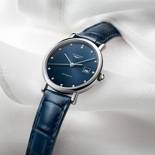 The Longines Elegant Collection v modrém