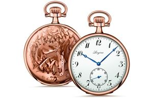 The Longines Equestrian Pocket Watch Horses Trio 1911