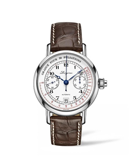 The Longines Pulsometer Chronograph Strap XL L2.801.4.23.4