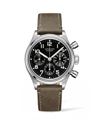 The Longines Avigation BigEye Strap XL L2.816.4.53.4